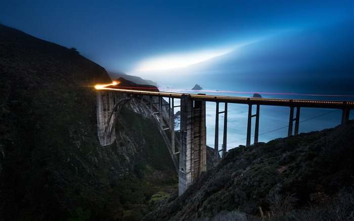 California blue bixby bridge-2017 High Quality Wallpaper Views:677