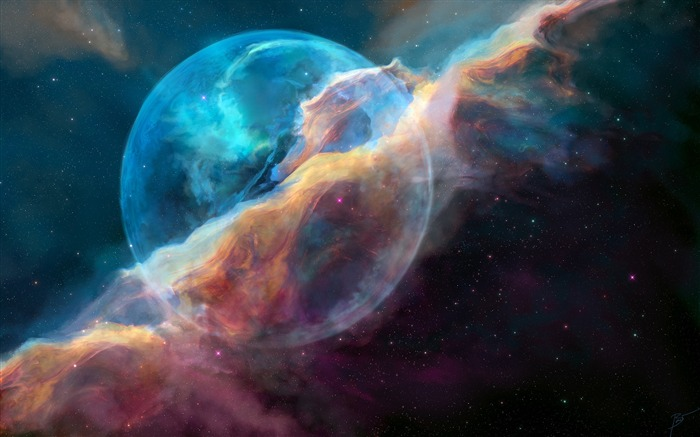 NGC 7635 bubble nebula-Universe HD Wallpapers Views:1131
