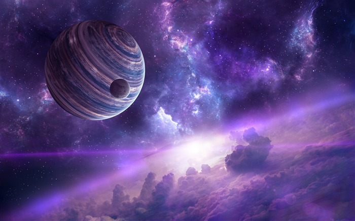 Nebula planets-Universe HD Wallpapers Views:1237