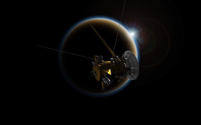 Saturn cassini probe-Universe HD Wallpapers Views:1209