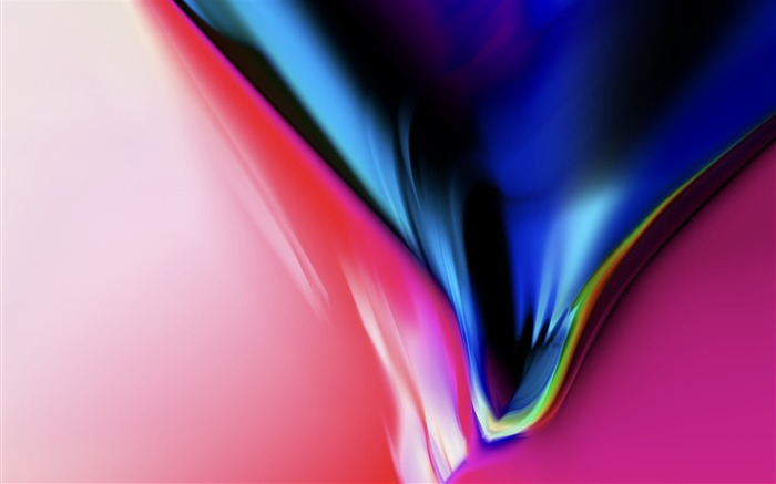 Abstract colorful black-Apple iOS 11 iPhone 8 iPhone X HD Wallpaper Views:918
