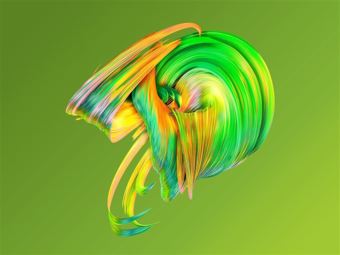 Abstract paintwaves green-Vector HD Wallpaper Views:632
