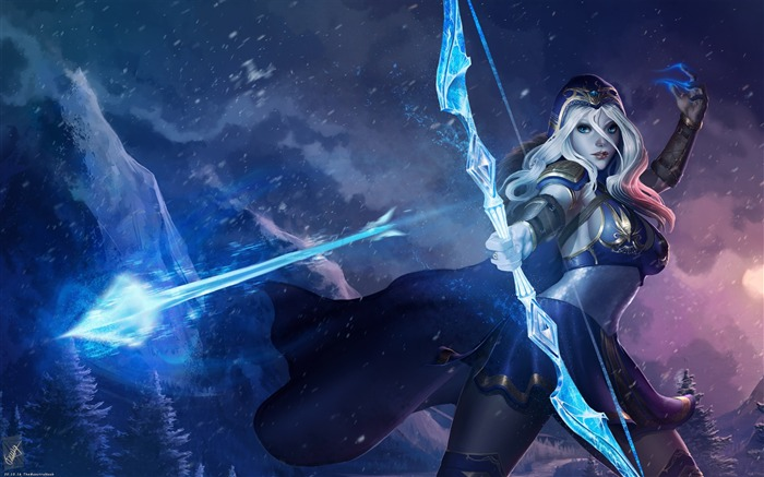Ashe league of legends-2017 Game HD Wallpaper Views:1292