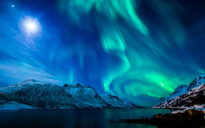 Beautiful Aurora Night Star Sky HD Wallpaper Views:5674