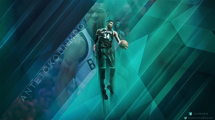 Giannis Antetokounmpo Bucks-2016-17 NBA Desktop Wallpaper Views:805
