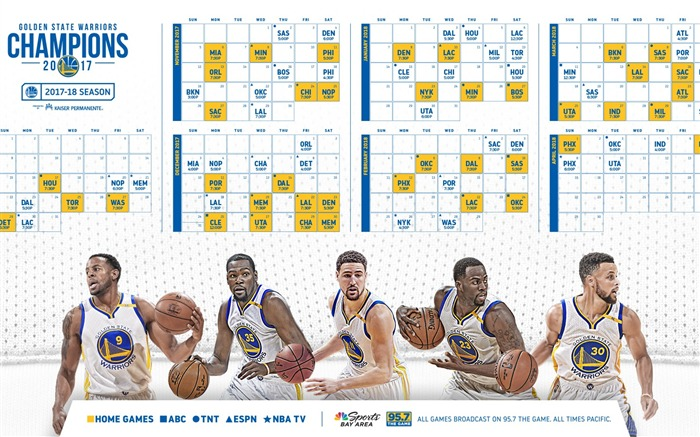 Golden State Warriors-2016-17 NBA Desktop Wallpaper Views:557