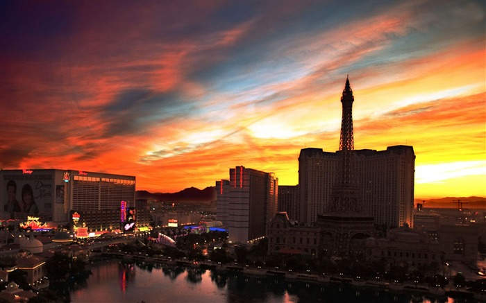 Las Vegas Sunset-Cities HD Wallpaper Views:3155 Date:9/9/2017 8:59:45 AM