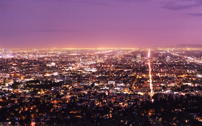 Los angeles usa panorama night-Cities HD Wallpaper Views:5108 Date:9/9/2017 9:01:34 AM