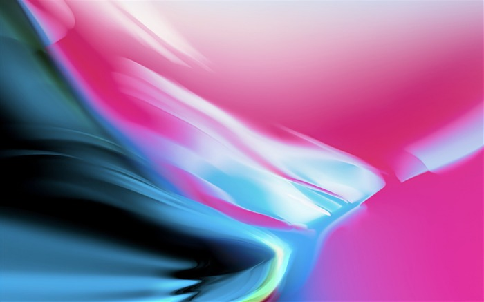 Pink And Blue Colorful Waves-2017 Vector HD Wallpaper Views:853