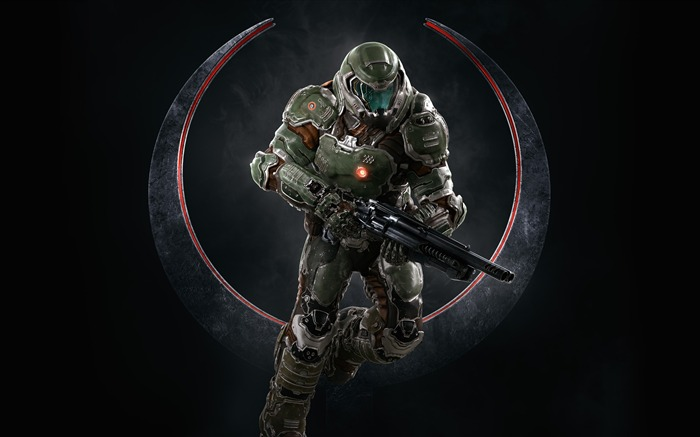 Quake champions doomguy-2017 Game HD Wallpapers Views:1062