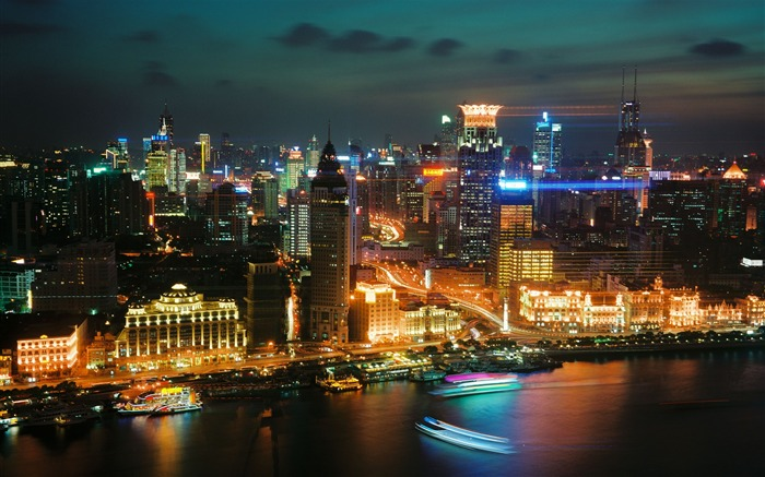 Shanghai skyscrapers night-Cities HD Wallpaper Views:3565 Date:9/9/2017 8:41:22 AM