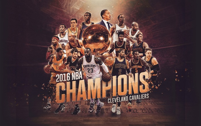 NBA 2017 Cleveland Cavaliers Theme Wallpaper Views:2095
