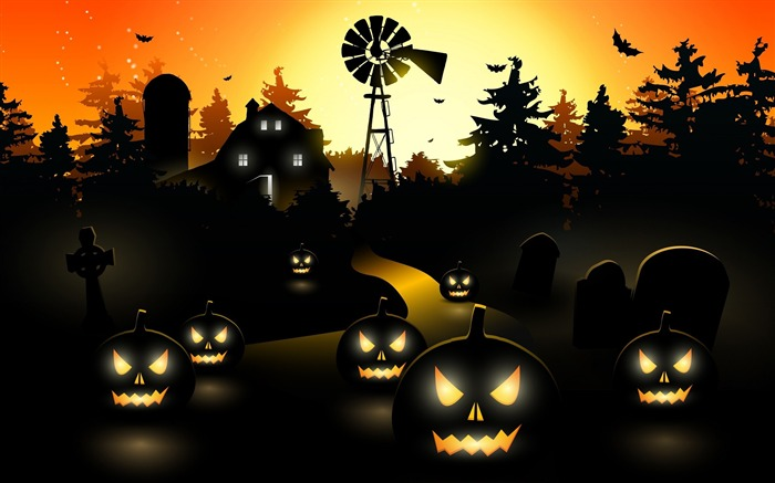 2017 Celebrations Halloween HD Wallpaper 02 Views:613