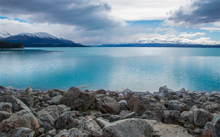 New Zealand Lake Pukaki Mountains Nature HD Wallpaper Views:3393 Date:10/27/2017 9:52:44 AM