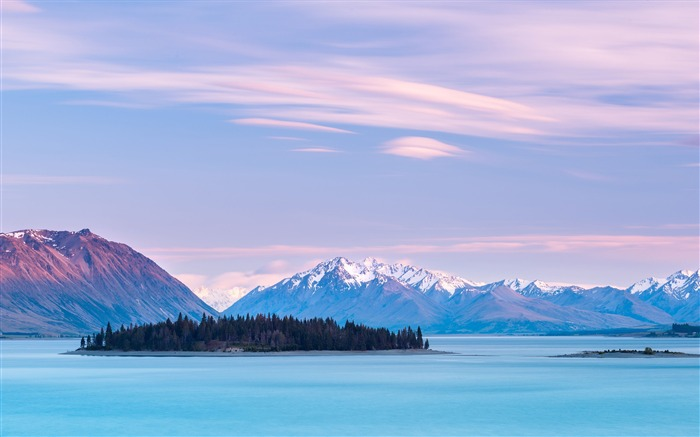 New Zealand Lake Tekapo Sky Clouds Nature HD Wallpaper Views:3592 Date:10/27/2017 9:53:51 AM
