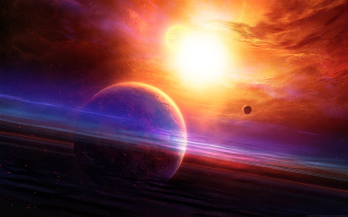 Planets space art 2017 High Quality Wallpaper Views:734