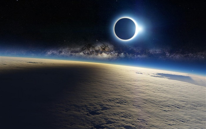 Solar eclipse Earth High Quality Wallpaper Views:881