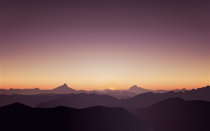 Sunset Mountains Calm High Quality Wallpaper Views:767