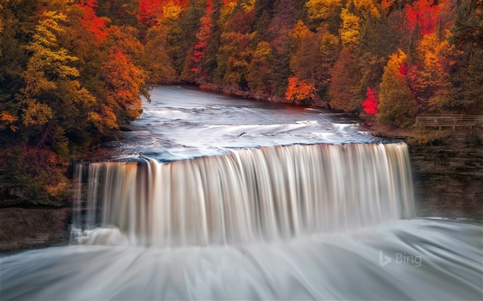 USA Michigan Tahquamenon Falls State Park 2017 Bing Wallpaper Views:247