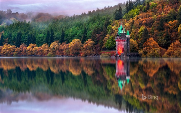 Wales Lake Vyrnwy in Powys 2017 Bing Wallpaper Views:463