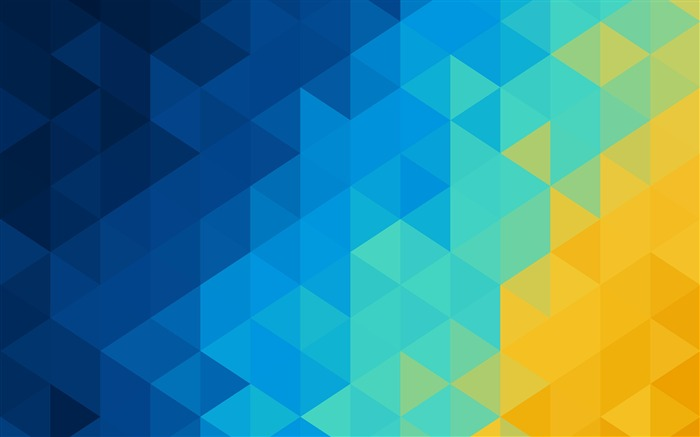 Abstract blue yellow Triangles 2017 Design HD Wallpaper Views:521