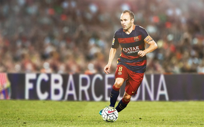 Andres Iniesta 2017 FC Barcelona Poster Wallpaper Views:1501