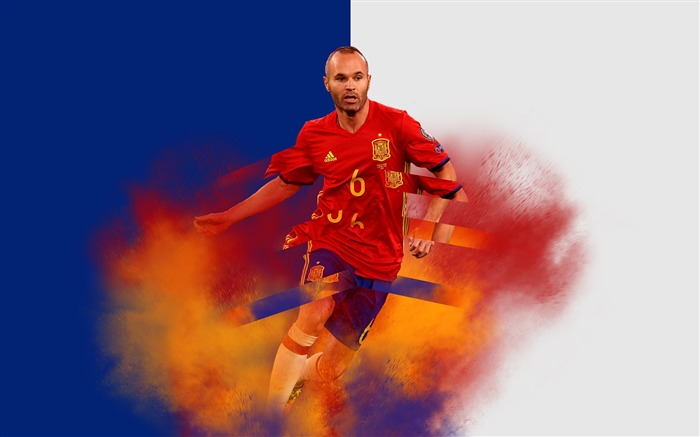 Andres Iniesta FC Barcelona 2017 HD Wallpaper Views:1613