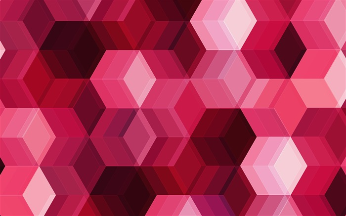Beautiful Cubes Pink Abstract 2017 Design HD Wallpaper Views:333