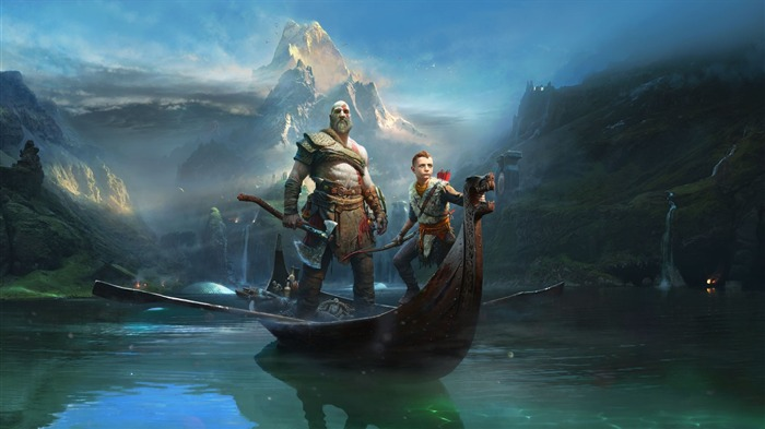 Kratos atreus god of war 2017 Game HD Wallpaper Views:1076