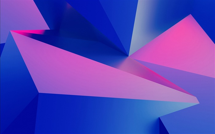 Pink blue 3D edges and corners 2017 Design HD Wallpaper Views:294