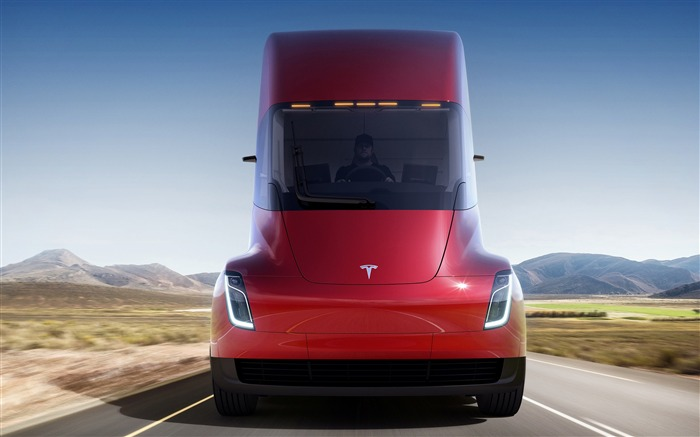 Red tesla electric trucks 2017 High Quality Wallpaper Views:559