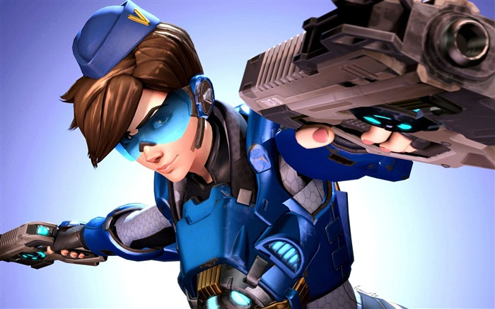 Tracer cadet oxton overwatch 2017 Game HD Wallpaper Views:1067