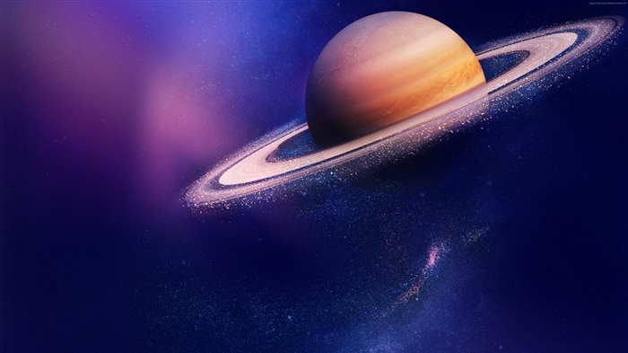 Blue Purple Saturn Planet 2017 4K HD Views:703