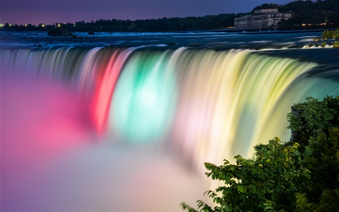 Canada colorful niagara falls 4K HD Photo Views:396