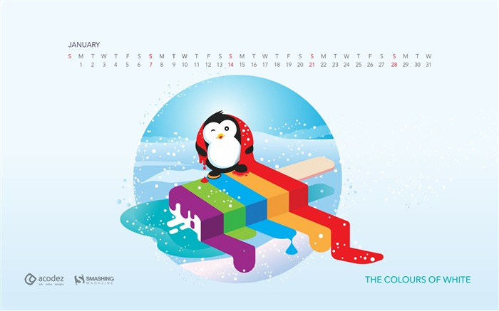 January 2018 Calendars Desktop HD Wallpaper Views:11283