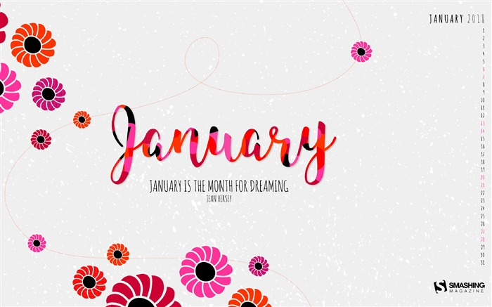 Dreaming Month January 2018 Calendars Views:903
