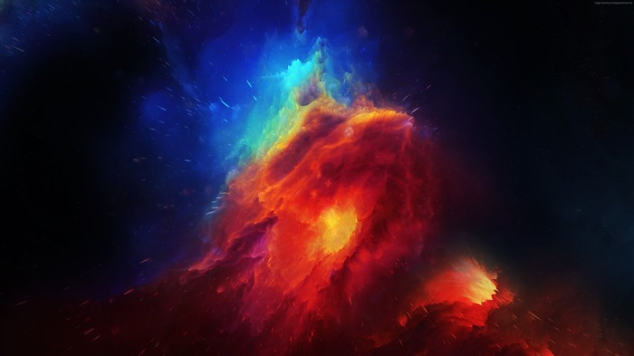 Red Blue Horsehead Nebula 2017 4K HD Views:710