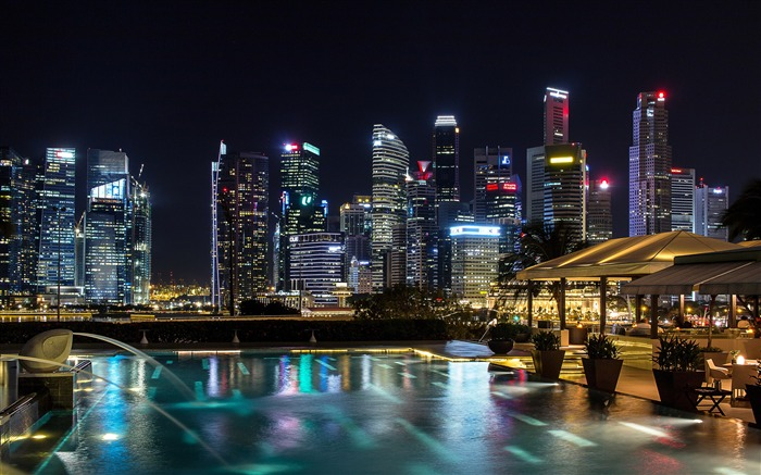 Singapore night skyscrapers photography 4K HD Views:1361