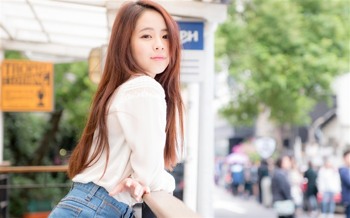 Streets pure cute beauty girl Model 4K Photo Views:1219
