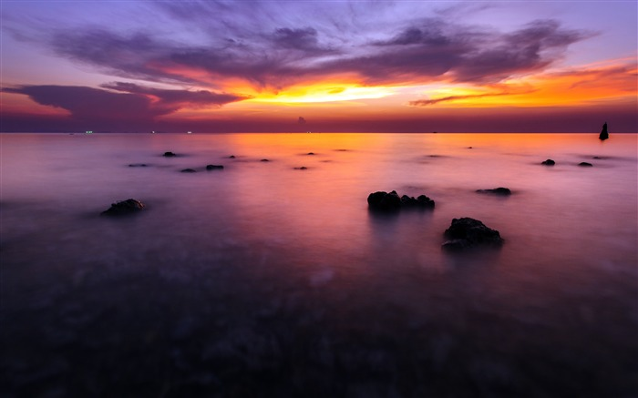Coral Reef Ocean Sunset Horizon Views:1123