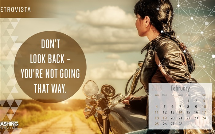 Dont Look Back February 2018 Calendars Views:1428