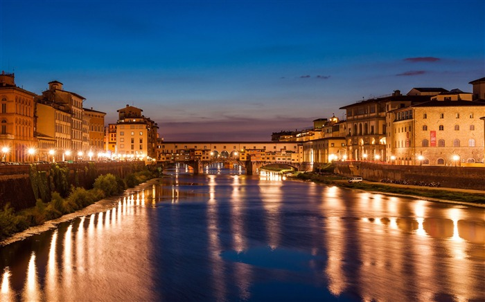 Florence italy travel city river night Views:891