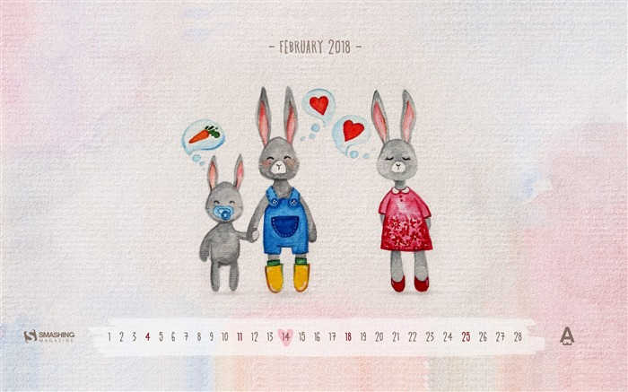 Love Is For Everyone February 2018 Calendars Views:1489