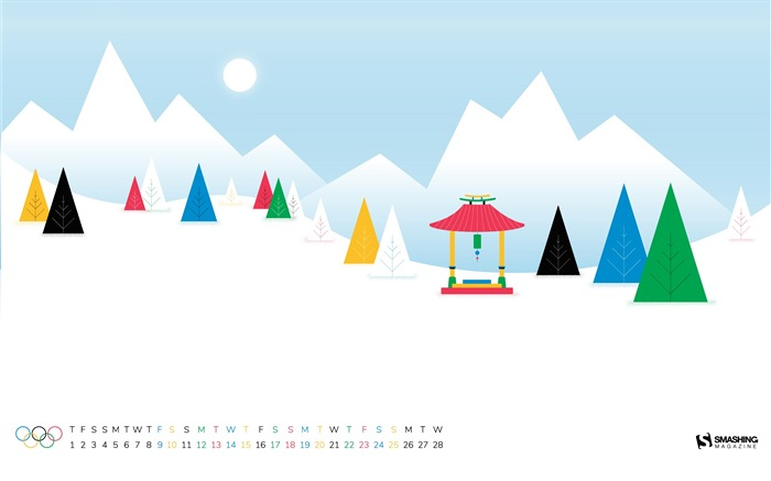 Olympic Winter Games February 2018 Calendars Views:1839