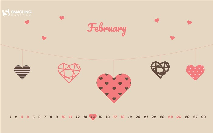 Valentines Day February 2018 Calendars Views:1455