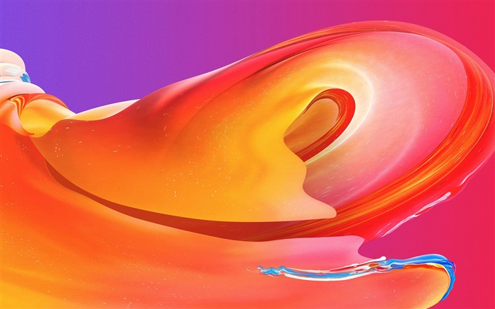 Orange curve wave abstract art Views:1267