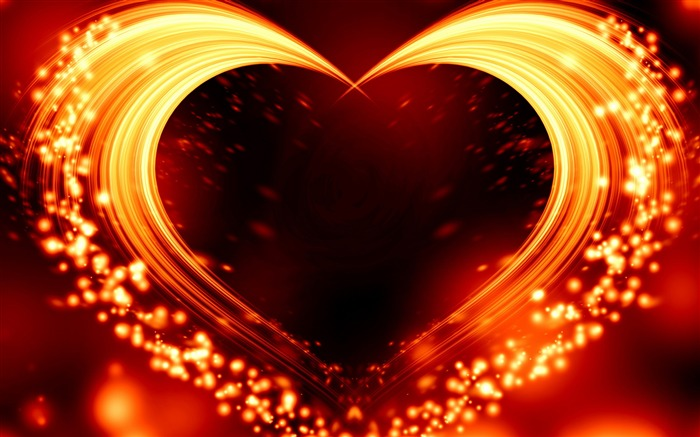 Sparks Love Heart Romantic Valentine Day Views:271