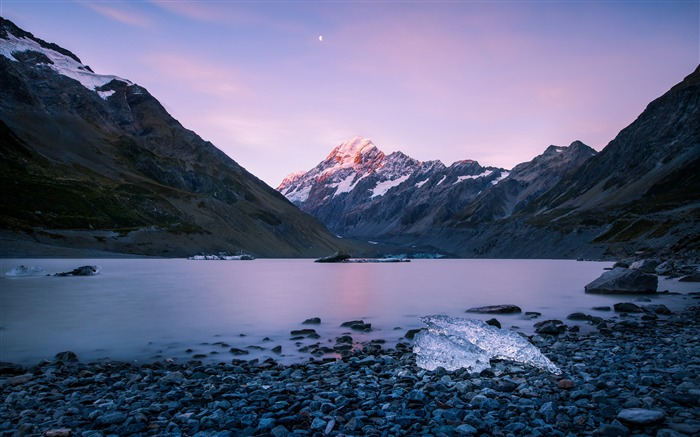 New Zealand Snow Mountains Lake Sunset Views:5281 Date:5/20/2018 9:00:37 AM