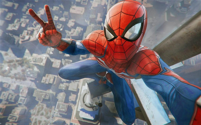 2018, Spider Man, Selfies, HD, juego, cartel Vistas:481