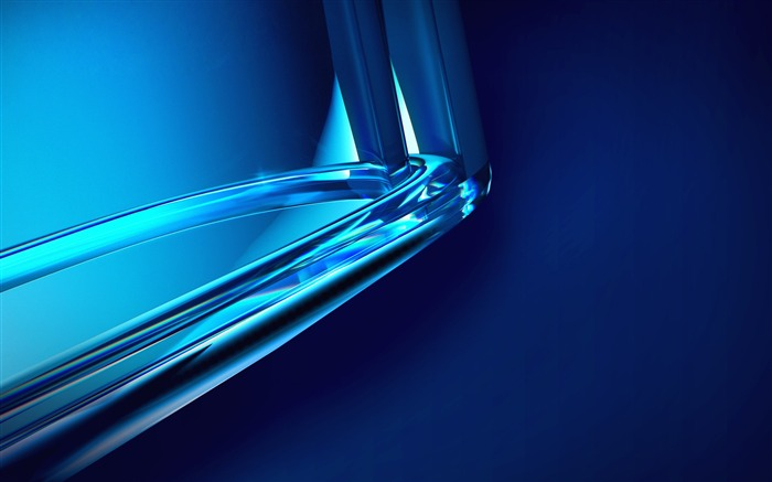Blue crystal glass glare abstract closeup Views:2753 Date:6/27/2018 7:40:02 AM